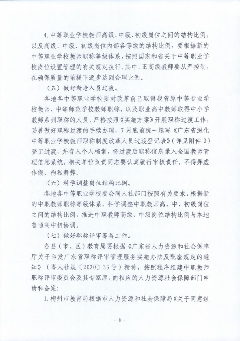 梅市人社函〔2021〕104号梅州市人力资源和社会保障局 梅州市教育局于印发《梅州市深化中等职业学校教师职称制度改革实施工作方案》的通知.pdf_page_08.jpg